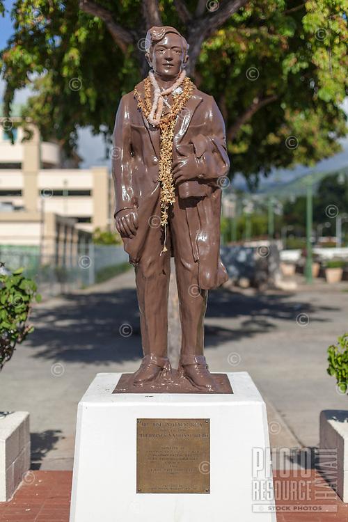 Dr. Jose Protacio Rizal statue in Chinatown, Honolulu, O'ahu