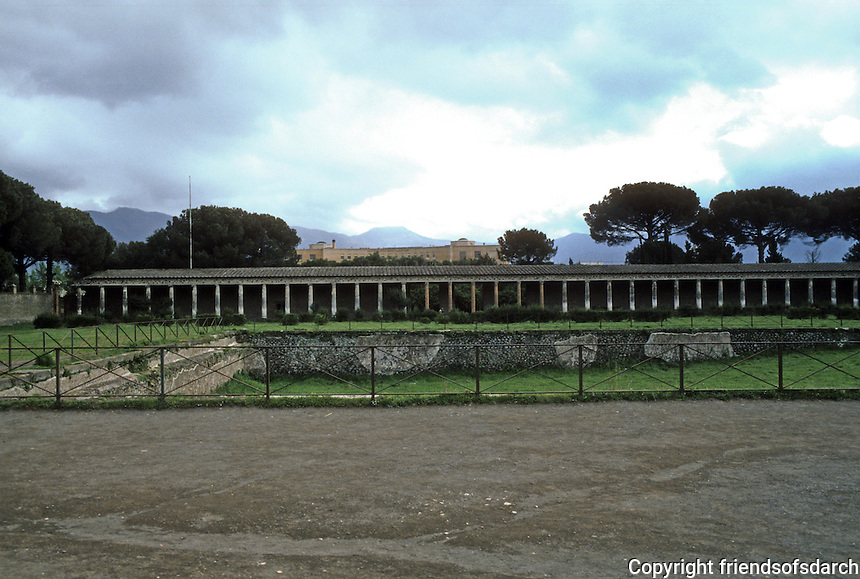 Italy: Pompeii--The Palestra, a playing field and swimming pool. Photo '83.