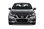 Car photography straight front view of a 2020 Nissan Versa SV 4 Door Sedan