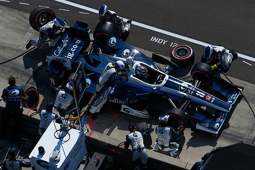 Verizon IndyCar Series<br /> IndyCar Grand Prix<br /> Indianapolis Motor Speedway, Indianapolis, IN USA<br /> Saturday 13 May 2017<br /> Max Chilton, Chip Ganassi Racing Teams Honda makes a pit stop<br /> World Copyright: Phillip Abbott<br /> LAT Images<br /> ref: Digital Image abbott_indyGP_0517_4769