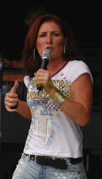 JO DEE MESSINA.Jamboree in the Hills.Morristown, 17th July 2005.stage gig half length half-length country music.Ref:Kelly Belcher.www.capitalpictures.com.sales@capitalpictures.com.© Capital Pictures.