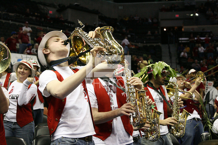 25 March 2006: The Stanford Band during Stanford's 88-74 win over the Oklahoma Sooners during the NCAA Women's Basketball tournament in San Antonio, TX.