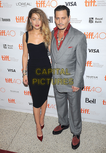 14 September 2015 - Toronto, Ontario, Canada - Amber Heard, Johnny Depp. &quot;Black Mass&quot; Premiere during the 2015 Toronto International Film Festival held at The Elgin Theatre. <br /> CAP/ADM/BPC<br /> &copy;Brent Perniac/AdMedia/Capital Pictures