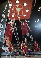 STANFORD, CA - March 2, 2019: JP Reilly at Maples Pavilion. The Stanford Cardinal defeated BYU 25-20, 25-20, 22-25, 25-21.