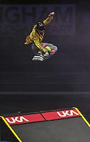 Photo: Tony Oudot/Richard Lane Photography. Aviva Grand Prix. 20/02/2010. .Extreme High Jump, Inline Skater Steve Swain.