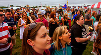 BALTIMORE, MD - MAY 20: Crowd listening to ountry group High Valley, perform in the infield on Preakness Day at Pimlico Race Course on May 20, 2017 in Baltimore, Maryland.(Photo by Sue Kawczynski/Eclipse Sportswire/Getty Images)