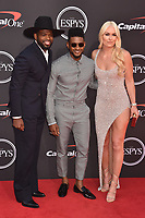 LOS ANGELES, USA. July 10, 2019: PK Subban, Usher & Lindsey Vonn at the 2019 ESPY Awards at the Microsoft Theatre LA Live.<br /> Picture: Paul Smith/Featureflash