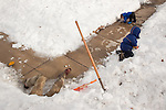 My husband and older son built two snow caves after a Feb. 2011 blizzard. My husband said that he was labor and our son was management. They drank cocoa inside, but our younger son was afraid to enter.