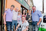 WELL UP FOR IT:  Enjoying the craic at the Kilgarvan Vintage Day and Traditional Music Festival. are l-r Tim O'Leary, Ruaidhri O'Sullivan, Mary Lynch, Patricia O'Sullivan, Fiona Lynch, Dan Lynch and front Johnny Doyle.