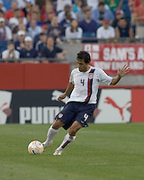Pablo Mastroeni (United States, white shirt). The United States defeated El Salvador, 4-0, in the first round of the CONCACAF Gold Cup, in Gillette Stadium, Tuesday, June 12, 2007.