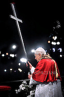 Via Crucis Benedict XVI procession on Good Friday the Colosseum in Rome. 6 April 2012