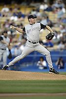 Curt Schilling In a  MLB game played at Dodger Stadium where the  Diamondbacks beat the Dodgers 3-2