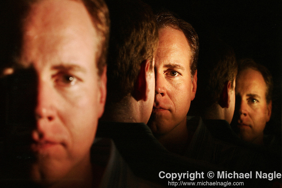 NEW YORK: JULY 27, 2007:  Writer Brett Easton Ellis poses for a portrait in his Union Square apartment on July 27, 2005 in New York City.  He has a new book being released-- Lunar Park.   PHOTOGRAPH BY MICHAEL NAGLE)