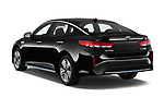 Car pictures of rear three quarter view of a 2019 KIA Optima Plug-In Hybrid EX 4 Door Sedan angular rear