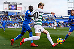 Dakonam Djene of Getafe CF (L) fights for the ball with Ivan Alejo of SD Eibar (R) during the La Liga 2017-18 match between Getafe CF and SD Eibar at Coliseum Alfonso Perez Stadium on 09 December 2017 in Getafe, Spain. Photo by Diego Souto / Power Sport Images