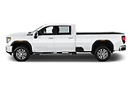 Car Driver side profile view of a 2020 GMC Sierra-3500HD Denali 4 Door Pick-up Side View
