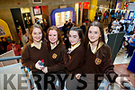 Cara O'Brien, Bonita O'Doherty, Molly Reilly and Meabh Trench, Presentation Secondary School, Listowel, pictured at IT Tralee Open Day on Friday last.