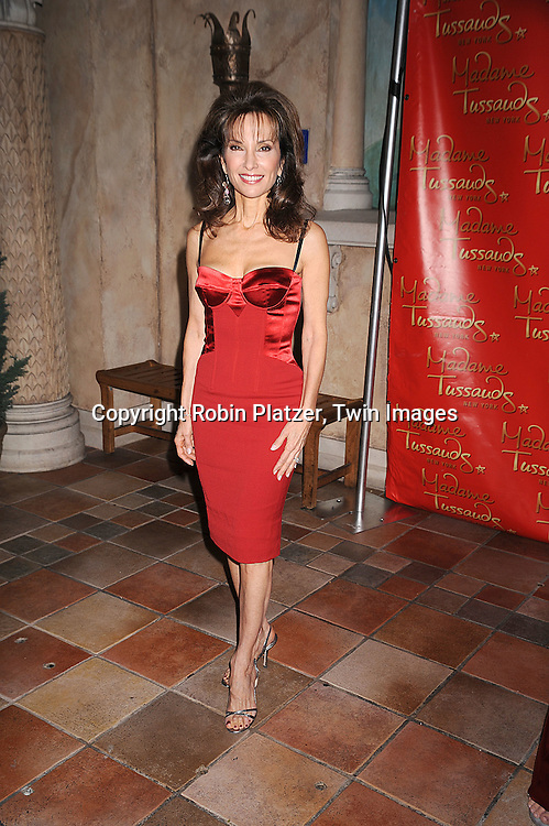 Susan Lucci in Dolce and Gabbana dress.at the unveiling of the Susan Lucci wax figure at.Madame Tussaud's New York on February 12, 2008. Afterwards there were audtions for a walk-on role on All My Children...Photo by Robin Platzer, Twin Images..212-935-0770