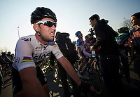 Dwars door Vlaanderen 2012.Mark Cavendish post-finish