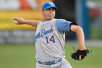 Cordier, Erik 1576.jpg. Carolina League Myrtle Beach Pelicans at the Frederick Keys at Harry Grove Stadium on May 13th 2009 in Frederick, Maryland. Photo by Andrew Woolley.