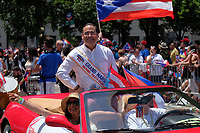www.acepixs.com<br /> <br /> June 11 2017, New York City<br /> <br /> Grand Marshall Gilberto Santa Rosa at the Puerto Rican Day Parade on fifth Avenue on June 11 2017 in New York City<br /> <br /> By Line: Curtis Means/ACE Pictures<br /> <br /> <br /> ACE Pictures Inc<br /> Tel: 6467670430<br /> Email: info@acepixs.com<br /> www.acepixs.com