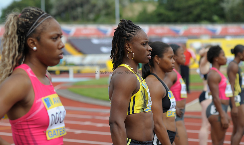 Photo: Ady Kerry/Richard Lane Photography..Aviva British Grand Prix. 31/08/2009. .Laverne Jones 100m