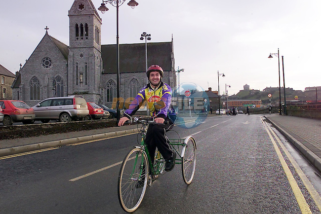 Noel Collier on his trike.Insight January 3..Picture Fran Caffrey Newsfile.