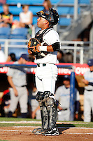 July 16, 2009:  Catcher Jose Ceballos of the Jamestown Jammers during a game at Russell Diethrick Park in Jamestown, NY.  The Jammers are the NY-Penn League Short-Season Single-A affiliate of the Florida Marlins.  Photo By Mike Janes/Four Seam Images
