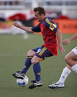 Real Salt Lake's Jason Kreis (9) in the Real Salt Lake 2-1 win over Kansas City Wizards at Rice Eccles Stadium in Salt Lake City, Utah May 20, 2006