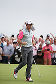 20.07.2014. Hoylake, England.  Rory McIlroy of Northern Ireland reacts on the 9th hole during the final round of the 143rd British Open Championship at Royal Liverpool Golf Club in Hoylake, England.