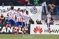 Players Atletico de Madrid celebrating goal of Saul