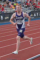 Kansas State sophomore Blake Goodin (Princeton High School) runs to an 11th-place finish in the men's 800-meters at the 2015 Kansas Relays.