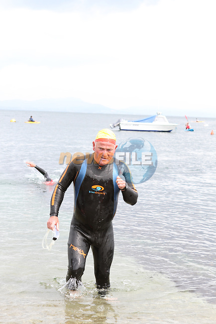 "Myles McCourt at the Clogherhead ""Round the Head Swim""....(Photo credit should read Jenny Matthews/NEWSFILE)..."