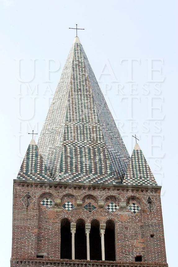 Il campanile della chiesa di Sant'Agostino a Genova.<br /> The bell tower of the church of Sant'Agostino, in Genoa.<br /> UPDATE IMAGES PRESS/Riccardo De Luca