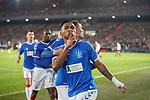 28.11.2019: Feyenoord v Rangers: Alfredo Morelos celebrates his goal for Rangers