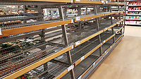 2018 03 01 Empty shelves in Sainsburys, Swansea, Wales, UK