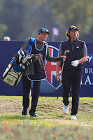 Gavin Green (MAS) and his caddy Kenneth Quillinan on the 14th tee during Round 2 of the Sky Sports British Masters at Walton Heath Golf Club in Tadworth, Surrey, England on Friday 12th Oct 2018.<br /> Picture:  Thos Caffrey | Golffile<br /> <br /> All photo usage must carry mandatory copyright credit (&copy; Golffile | Thos Caffrey)