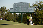 AUGUSTA, GA: APRIL 10 - Bubba Watson of the United States, studies the green during the first round of the 2014 Masters held in Augusta, GA at Augusta National Golf Club on Thursday, April 10, 2014.. (Photo by Donald Miralle)