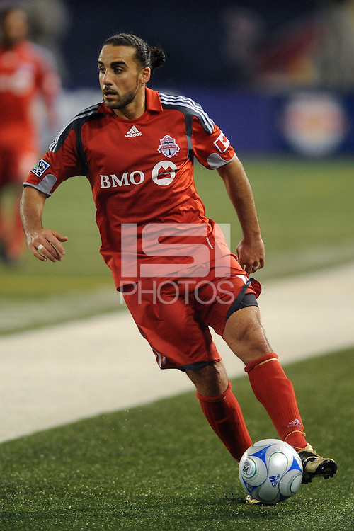 Dwayne De Rosario (14) of Toronto FC. The New York Red Bulls defeated Toronto FC 5-0 during a Major League Soccer match at Giants Stadium in East Rutherford, NJ, on October 24, 2009.