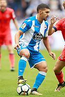 Deportivo de la Coruna's Zakaria Bakkali during La Liga match. September 10,2017.  *** Local Caption *** © pixathlon<br /> Contact: +49-40-22 63 02 60 , info@pixathlon.de