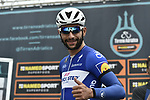Fernando Gaviria (COL) Quick-Step Floors arrives at sign on before the start of Stage 6 of the 53rd edition of the Tirreno-Adriatico 2018 running 153km from Numana to Fano, Italy. 12th March 2018.<br /> Picture: LaPresse/Fabio Ferrari | Cyclefile<br /> <br /> <br /> All photos usage must carry mandatory copyright credit (&copy; Cyclefile | LaPresse/Fabio Ferrari)