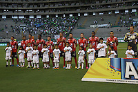 CALI -COLOMBIA-2-JUNIO-2016.Formación del Medellín ante el Cali. Acción de juego entre el Cali y Medellín durante partido por los cuartos de final-cuartos ida  en el estadio del Deortivo Cali en Palmaseca./ Team of Medellín against Cali. Actions game between Cali and  Medellin   during match quarterfinal-quarter leg at the Deportivo Cai stadium in Palmaseca. Photo: VizzorImage / Felipe Caicedo  / Staff
