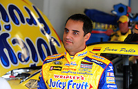 Jul. 3, 2008; Daytona Beach, FL, USA; NASCAR Sprint Cup Series driver Juan Pablo Montoya during practice for the Coke Zero 400 at Daytona International Speedway. Mandatory Credit: Mark J. Rebilas-