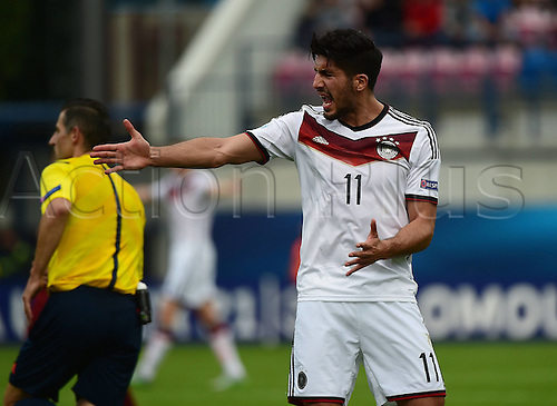 27.06.2015. Andruv Stadium, Olomouc, Czech Republic. U21 European championships, semi-final. Portugal versus Germany.  Emre Can (Germany)