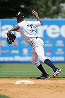 Staten Island Yankees infielder Claudio Custodio (30) during game against the Aberdeen Ironbirds at Richmond County Bank Ballpark at St.George on July 18, 2012 in Staten Island, NY.  Staten Island defeated Aberdeen 3-2.  Tomasso DeRosa/Four Seam Images