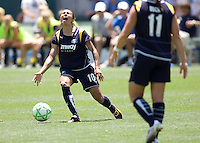LA Sol forward Marta reacts to missing a ball. The St. Louis Athletica defeated the LA Sol 1-0 at Home Depot Center stadium in Carson, California Wednesday afternoon July 8, 2009. .