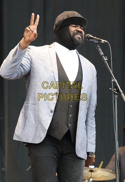 CHELMSFORD, ESSEX - Gregory Porter performs at V Festival 2015 at Hylands Park, on 22nd and 23rd of August 2015 in Chelmsford, Essex<br /> CAP/ROS<br /> &copy;Steve Ross/Capital Pictures