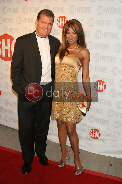 Traci Bingham and her fiance John<br /> At the Showtime Emmy After-Party, Saddle Ranch Chop House, West Hollywood, CA 09-18-05<br /> David Edwards/DailyCeleb.Com 818-249-4998