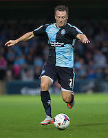Garry Thompson of Wycombe Wanderers in action during the Capital One Cup match between Wycombe Wanderers and Fulham at Adams Park, High Wycombe, England on 11 August 2015. Photo by Andy Rowland.