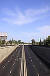 Israel, Herzliya, Cycling at the Tel Aviv-Haifa highway on Yom Kippur